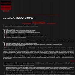 Méthode AMDEC (FMEA)