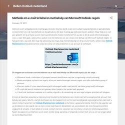 Methode om e-mail te beheren met behulp van Microsoft Outlook-regels