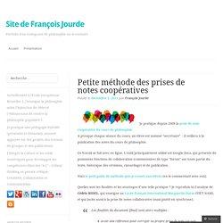 Petite méthode des prises de notes collaboratives « Site compagnon des cours de François Jourde