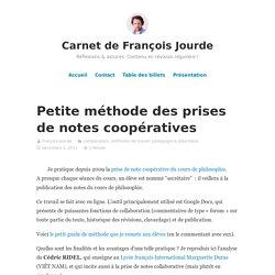 Petite méthode des prises de notes coopératives – Carnet de François Jourde