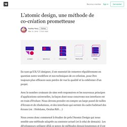 L'atomic design, une méthode de co-création prometteuse