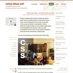 Méthode Daisy : les CSS feuille à feuille