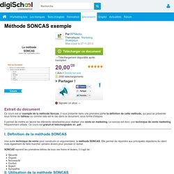 Méthode SONCAS : Exemple et Définition