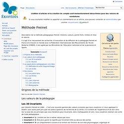 Méthode Freinet
