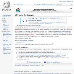 Méthode de Karman