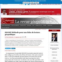 HGGSP Méthode pour une fiche de lecture géopolitique