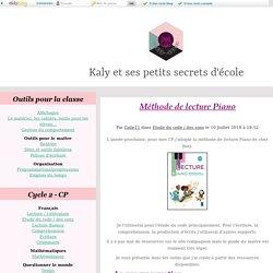 Méthode de lecture Piano - Kaly et ses petits secrets d'école