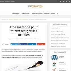 Une méthode pour mieux rédiger ses articles