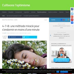 4-7-8 : une méthode miracle pour s'endormir en moins d'une minute