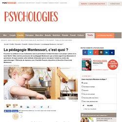 Méthode Montessori - La pédagogie Montessori, c'est quoi
