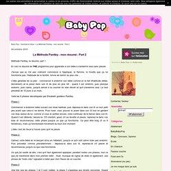 La Méthode Pantley - mon résumé - Part 2 - Baby Pop