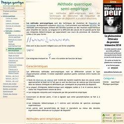 Méthode quantique semi-empirique