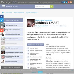 1-Méthode SMART pour fixer des objectifs