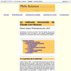 Méthode structurale Claude Lévi-Strauss