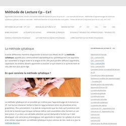 Méthode de Lecture Cp – Ce1