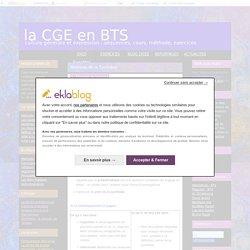 Méthode de la Synthèse - la CGE en BTS
