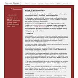 Méthode de la note de synthèse - LucienCastex.com