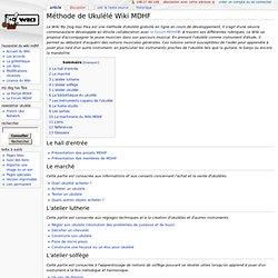 Méthode de Ukulélé Wiki MDHF - Wiki Ukulele MDHF
