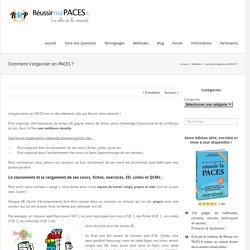 Méthodes - Comment s'organiser en PACES ? - Réussir ma PACES.fr