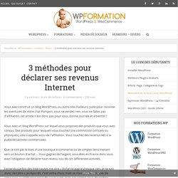 3 méthodes pour déclarer ses revenus Internet