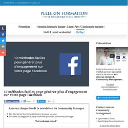 10 méthodes faciles pour générer plus d'engagement sur votre page Facebook