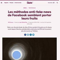 Les méthodes anti-fake news de Facebook semblent porter leurs fruits