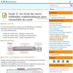 Cycle 3- Un livret de cours-méthodes pour l'ensemble du cycle- Mathématiques