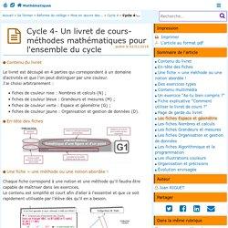 Cycle 4- Un livret de cours-méthodes pour l'ensemble du cycle- Mathématiques