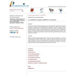 Les méthodes d'enquête qualitative sur Internet