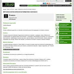 Cours / EDU 6301 - Méthodes de recherche en formation à distance I