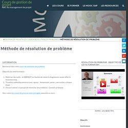 Méthodes de résolution de problème