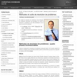 Méthodes et outils de résolution de problèmes