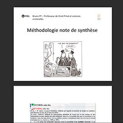 Diaporama : méthodo-note-synthèse