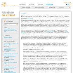 A Methodological Interlude: Alternative Futures and Deductive Forecasting
