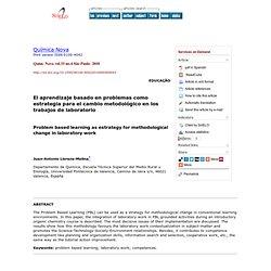 Química Nova - Problem based learning as estrategy for methodological change in laboratory work