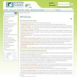 Méthodologie - pour menu - Achetonsdurable.com