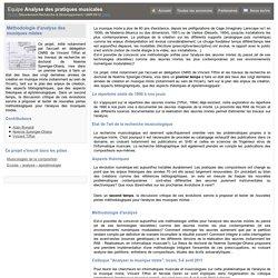 Méthodologie d'analyse des musiques mixtes - APM - APM