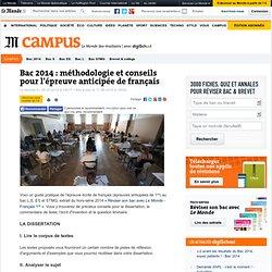Bac 2014 : méthodologie et conseils pour l'épreuve anticipée de français