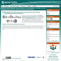 Méthodologie CV et lettre de motivation pour des lycéens (par l'EPN de l'association Sémaphore de Mulhouse)