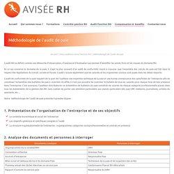 Méthodologie de l'audit de paie - Avisée RH
