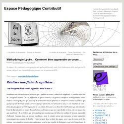 Méthodologie Lycée… Comment bien apprendre un cours…
