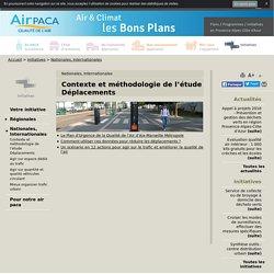 Contexte et méthodologie de l'étude Déplacements - Air PACA air et climat, bons plans pour agir