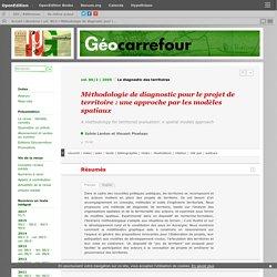 Méthodologie de diagnostic pour le projet de territoire : une approche par les modèles spatiaux