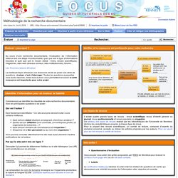 Évaluer - Méthodologie de la recherche documentaire - Focus at Université Rennes 1