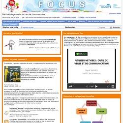 Réaliser une veille - Méthodologie de la recherche documentaire - Focus at Université Rennes 1