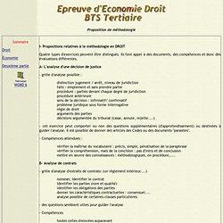 Méthodologie Economie Droit pour l'épreuve de BTS