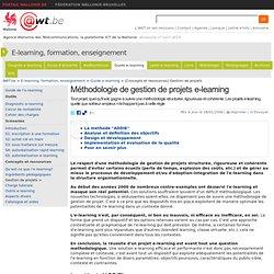 Méthodologie de gestion de projets e-learning