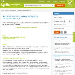 Méthodologie : L'introduction de dissertation 2/2
