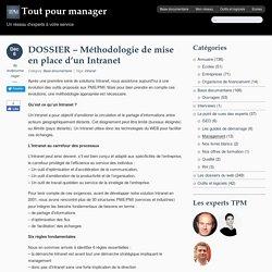 DOSSIER - Méthodologie de mise en place d'un Intranet - Tout pour managerTout pour manager