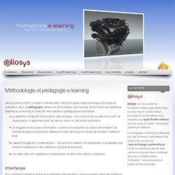 Méthodologie et pédagogie e-learning « Solutions e-learning – Plateformes LMS SCORM – serious games